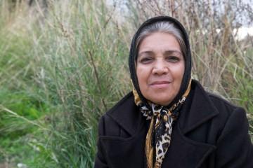 A refugee woman on Samos Island in Greece