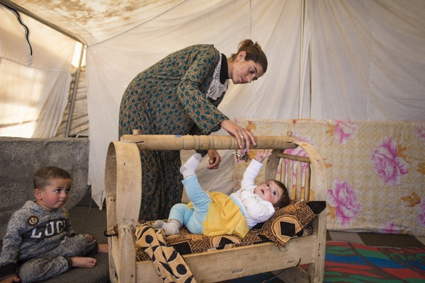 For children under 5 years old, living in a refugee camp is all they have ever known.